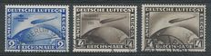 German Empire 1928/1933 - Selection airmail Graf Zeppelin - Michel 424, 439y, 498