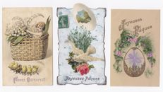 """Fantasy and nostalgia - 152 x - Theme """"Easter and Pentecost"""" - number of embossed cards and processed cards"""