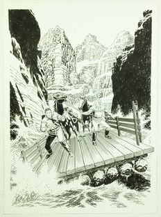 "Civitelli, Fabio - illustration ""Là dove scende il fiume"" - (2013)"