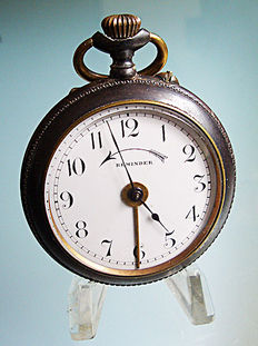 Remainder, men's pocket watch with alarm function from around 1920