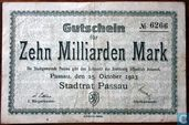 Passau 10 Milliard Mark 1923