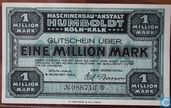 Köln-Kalk 1 Million Mark 1923