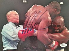 Mike Tyson - 8 x 10 hand-signed photograph - Fight against Holyfield