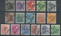 "Allied occupation, Soviet zone 1949 – Selection, including among others ""Bezirkstempel"" overprints"