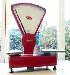 Beautiful red Berkel scale-Type E, approx. 1960, Netherlands