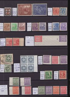 Germany 1945 / 1949 - Soviet zone, specialised, many signed.