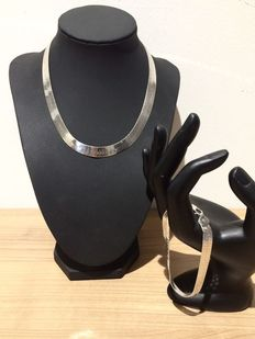 Silver set with necklace and bracelet