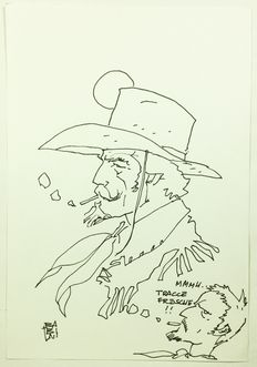 "Babini, Stefano - drawing ""Kit Carson"""