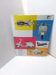 Vespa sheet metal sign from Italy - 2000