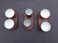 Yixing 6 bowls with serving platter - China - end 20th century