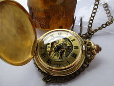 Timewise Swiss Made Vintage Pocket watch Skeleton