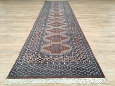 Clean pastel runner - approx. 365 x 89 cm Oriental rug - the condition is VERY GOOD