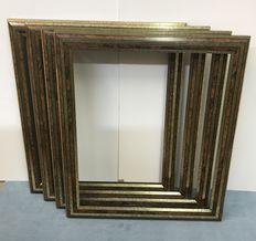 Four large Frames in Gold and Burr wood - 50x60 cm