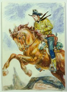 "Muzzi, Virgilio - illustration ""Tex a cavallo"""