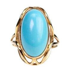 Turquoise, Gold Ring