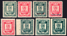 Castiglione d'Intelvi, Italian Local Issue, 1945 - Complete Coat of Arms' Series - No perforations