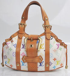 Louis Vuitton - White multicolor GM Theda bag