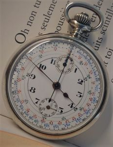 Valjoux chronograph pocket watch – Men's pocket watch – 1900–1909