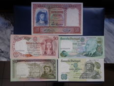 World - Spain and Portugal - Lot 21 Banknotes