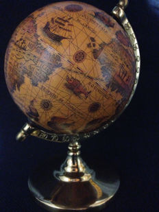 Antique earth globe in bronze