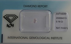 **Natural Fancy Pink Diamond 0.16 ct  with IGI cert ***No minimum price***