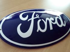 Table metal enamel - FORD - great very large logo - last decade of the 20th century