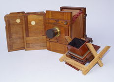 Universal Aplanat Extra Rapid, middle format plate camera, wood, around 1925