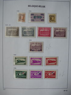 Belgium – Collection of railway stamps between OPB TR 167 and 301/303