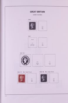 European countries, 1854-2008, collection in four DAVO standard albums