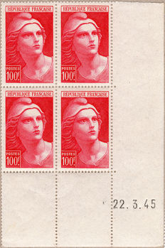 1940-1959 France - collection of dated airmailed corners