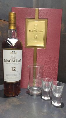 Macallan 12 Year Old Sherry Old Edition Gift Pack + Carafe x1 + Shot Glass x2