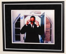 Men in Black - Will Smith originally hand signed photo - Premium Framed + Certificate of Authenticity from PSA