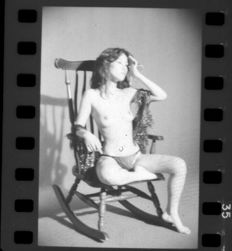 Asian erotica; 38 photographic negatives of nude Japanese models - 1980's