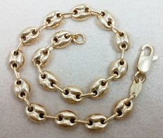 18 kt (750/1000) yellow gold bracelet, with marine links. Weight: 7.2 g