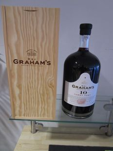 10 year old Tawny Port Graham's - 4.5 liter in luxury wooden box, also with spout.