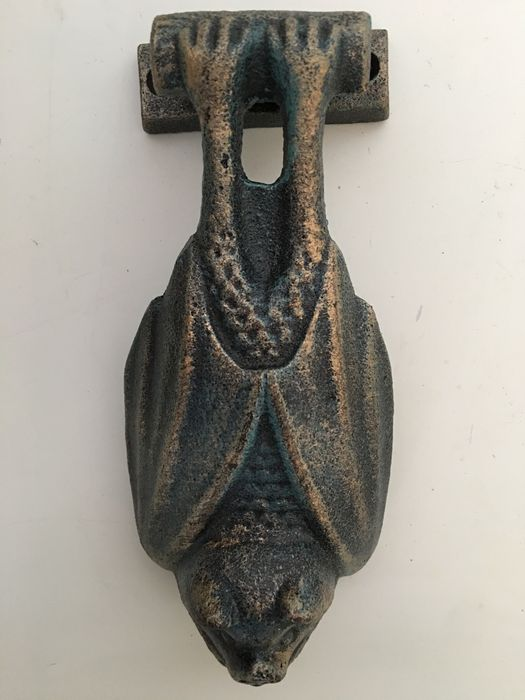 Hand Sculpted Heavy Duty Door Knocker Of A Hanging Bat Including New  Fasteners