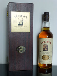 Aberlour 1971 vintage - 21 years old with wooden box