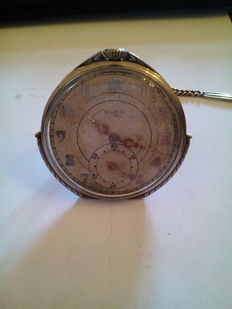 Elgin – men's pocket watch with chain – year 1900