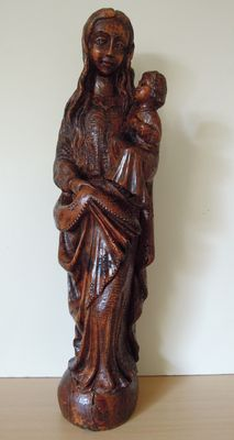 Oak statue of Mary - Belgium - 19th century