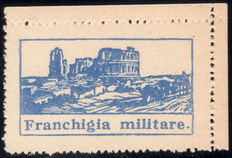 Kingdom of Italy – 1943 – Exemption from postage for military mail, Amphitheatre of El Jem