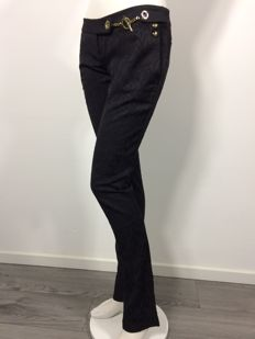 Elisabetta Franchi for Celyn B. – Slim fit trousers with gold links