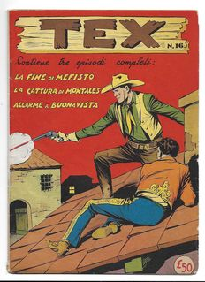 Tex, fortnightly issue - 1st series, Albo d'Oro, no. 16 - (1953)