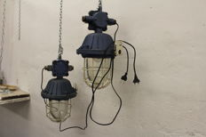 "Polam Wilkasy - ""Bully"" cage lamps, industrial lights"