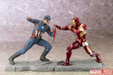Captain America Civil War: Iron Man + Captain America Artfx+ PVC Statue 2/set