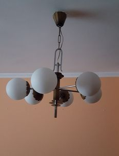 Unknown designer – Ceiling light with 6 arms