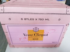 Veuve Cliquot Rose Champagne - 6 bottles in original box.