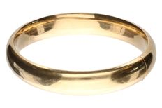 Yellow gold bangle in 14 kt