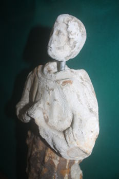 Medieval stone statue - 470 mm (total lenght)