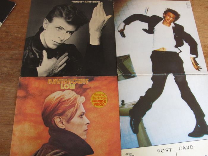 David Bowie, Iggy Pop - Nice Lot with 4 Epic Albums; 3 of David Bowie & The Famous Lust for Life album of Iggy Pop   - Multiple titles - LP's - 1977/1979