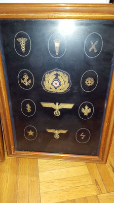 Tableau of Insignias of the Kriesgmarine of the German Third Reich